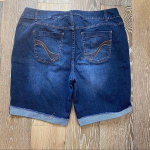 Lane Bryant Bermuda Jean denim shorts sz 20